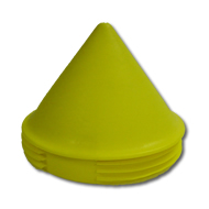 Pointed Yellow Pole Cap Plastic