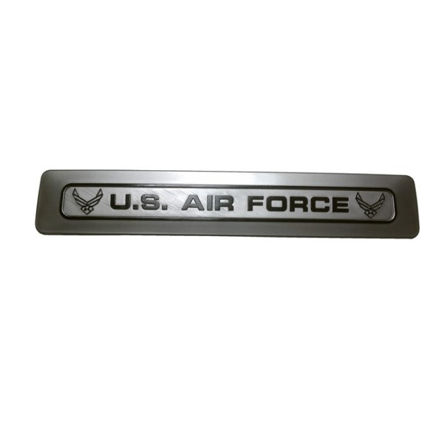 Air Force Silver w Black Letters