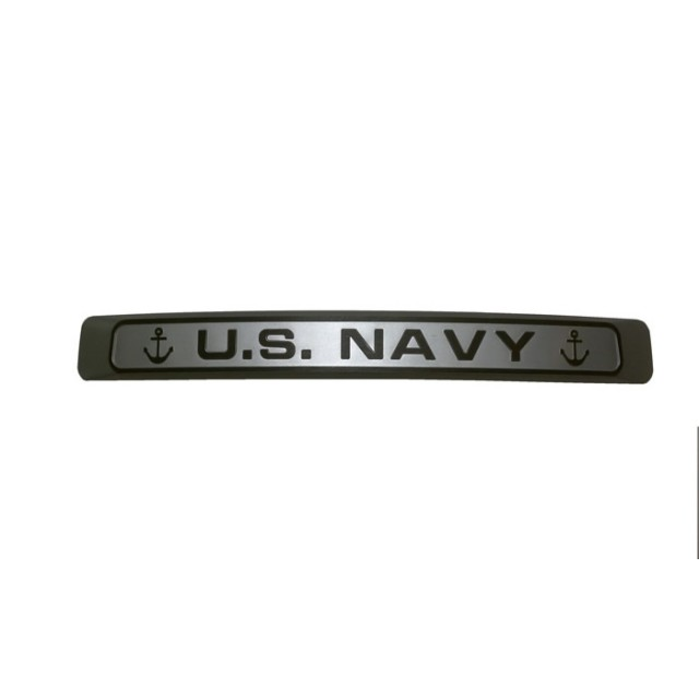 Navy Silver w Black Letters