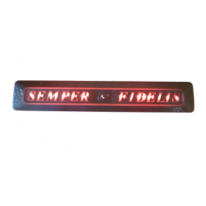 Semper Fi Rinkel Black Lighted.