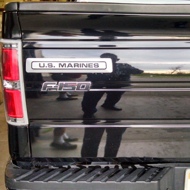 US Marines Gray w Black Letters Tour Pac Truck1