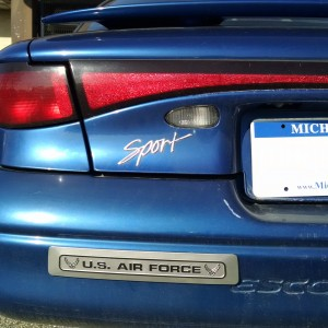 Air Force Silver w Black Letters Tour Pac Ford Car 3